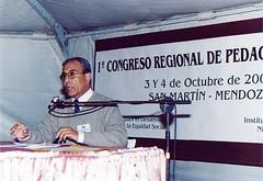 1° Congreso Regional de Pedagogía Social, San Martín, Mendoza, organizado por el Instituto San Vicente de Paul y la Fundación Fundees, octubre de 2003.
