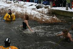 Cold Girl (Cygnus X1) Tags: people rescue snow water fire dam firefighters rockford dams algoma rockfordmichigan rockfordevents sweetheartsplash2009