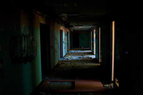 Abandoned Mental Hospital Hallway