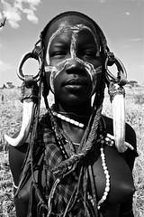 Mursi Tribe Girl - by Marc Veraart