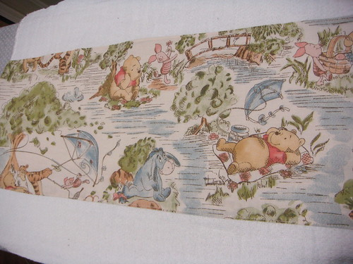 pooh burp cloth