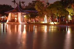 Taichung Park  DSC_6834 (Ming - chun ( very busy )) Tags: park light lake water night nikon nightshot d70 taiwan taichung