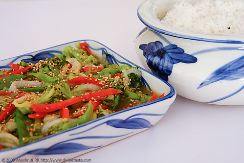 Stir Fried Vegetables With Toasted Sesame Seeds
