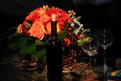 IMG_1281.JPG (John Wirick Photography) Tags: flowers philadelphia glass table wine settings jdwirick philadelphiaflowershow2009