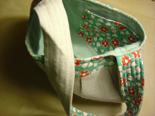 Linen Purse - Inside