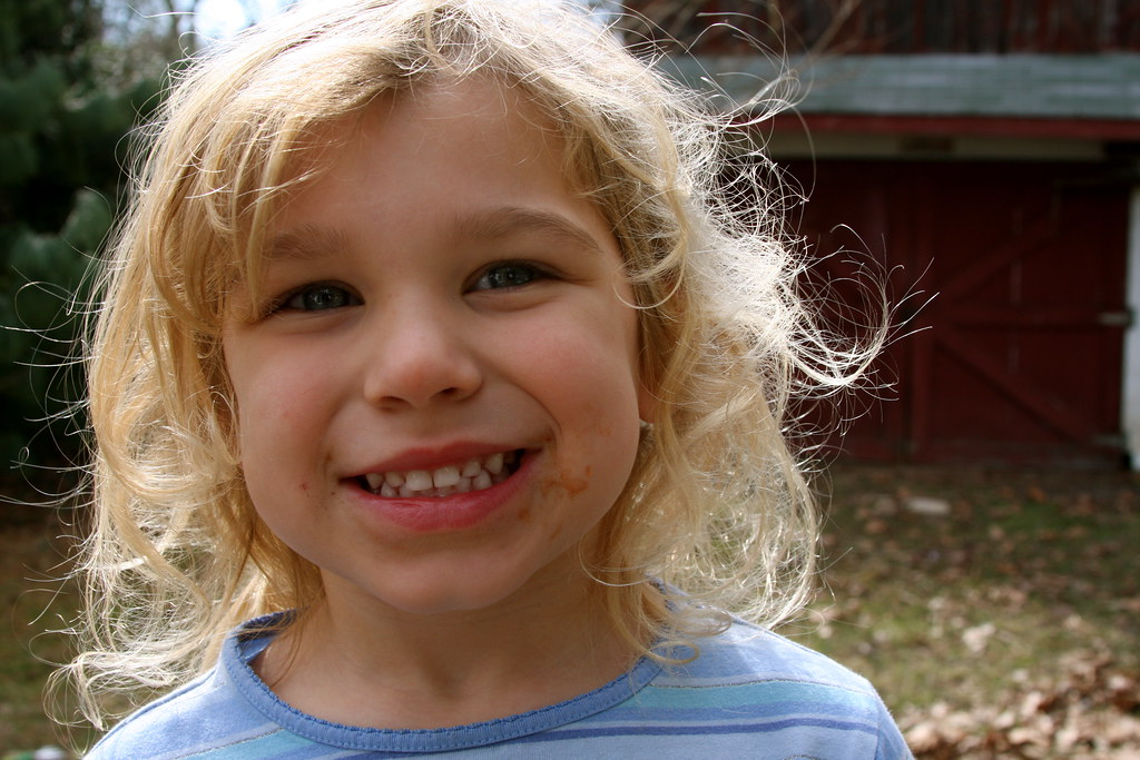 Img_2214 Carriekues Tags Girl Smile Barn Backyard Little Dirt Blonde Neighbor