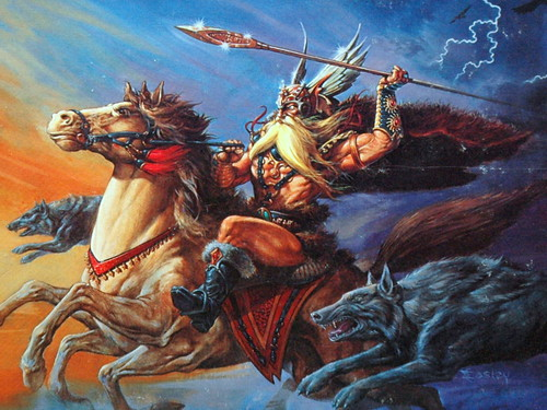 "Odin Riding Forth on the Cover of ""Legends and Lore"" for AD&D"