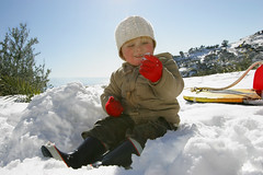 People. Greece, Crete, Nathan in snow (Patricia Fenn) Tags: sun snow cold sunshine weather canon fun photography toddler europe photographer village child play greece crete laugh tot learn olivetree patriciafenn gettyimagesgreece1 patriciafenngallerycom