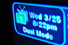 Wed 3/25 8:22pm Dual Mode (SouthernBreeze) Tags: blue usa television america wednesday 1 march tv nikon shot huntsville satellite united unitedstatesofamerica alabama 8 screen american 25 states pm 2009 teevee d90 southernbreeze nikond90