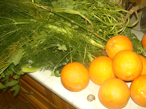 foraged produce