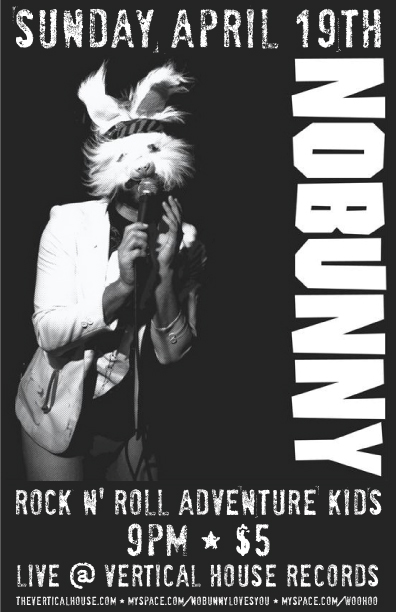 April 19: Nobunny & Rock N' Roll Adventure Kids