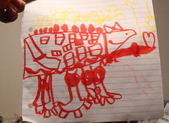 My 5yr old daughter's rendition of the AT-OP (starstreak007) Tags: old star lego 5 daughter years wars clone rendition atot