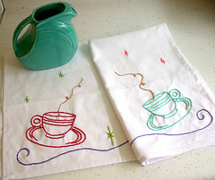 Jan's Tea towels (wilsonlaura) Tags: tea swap towels wewilsons