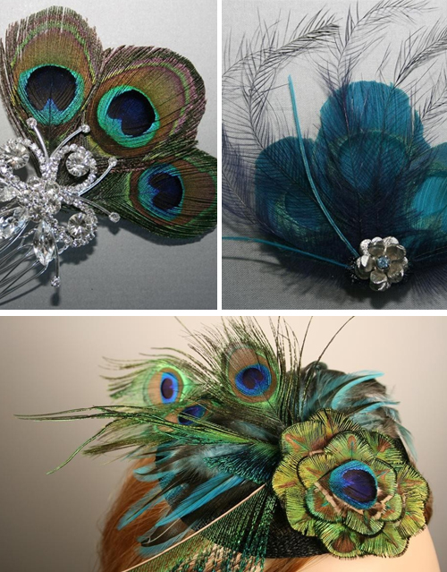 tell me they 39re incorporating peacock feathers into their wedding decor