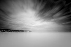 (Claire Hutton) Tags: uk longexposure sea england blackandwhite bw seascape southwest beach clouds boats bay coast movement smooth minimal coastal dorset milky swanage waterscape ndfilter jurassiccoast isleofpurbeck ballarddown cliifs 10stop nd1000 nd110 bw110 leefilters 09ndgrad