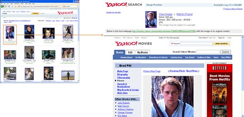 Yahoo! Image Search old preview page