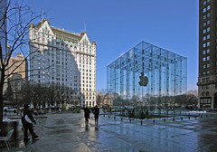 New York, Apple cube designed by Bohlin Cywinski Powell (B Coleman) Tags: nyc 20d apple glass architecture modern canon jackson cube ptgui bohlin cywinski newyorkfeb72009