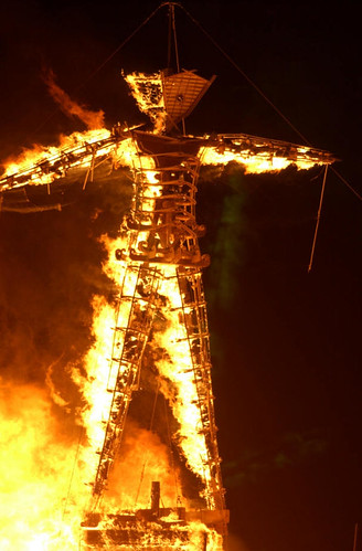 Straw Man Burning!