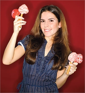 Jessica Cervantes with her Popsy Cakes