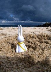 Ever Get That Sinking Feeling (jimmy foo) Tags: beach yellow lapin mrclement stabby petitlapin