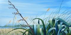 Shining day (tracy macdonald) Tags: newzealand art painting artist acrylic modernart toitoi petone flax tracymacdonald