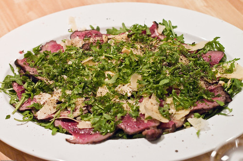 Roast Beef With Arugula And Parmesan