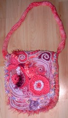 "Freeform Handbag ""Pink Denise"" (Front) (regulli) Tags: bag freestyle freeform freeformcrochet"