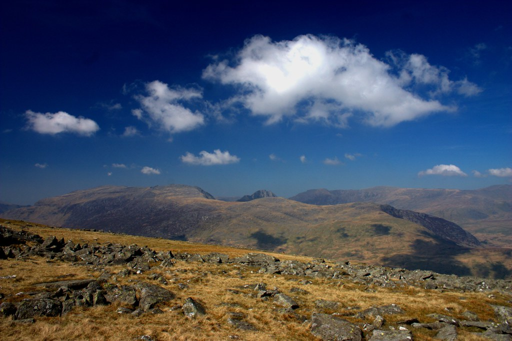 The Glyders from Moel Siabod
