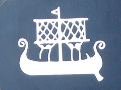Viking Ship mural in Gamla Stan (bryanDeldridge) Tags: sweden stockholm scandanavia