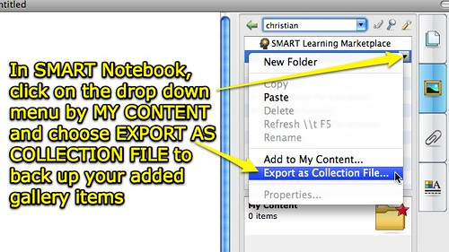 SMART Notebook: Export as Collection File