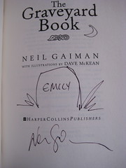 """Signed """"The Graveyard Book"""" (chowmeyow) Tags: world graveyard festival pen book neil gaiman signed voices"""