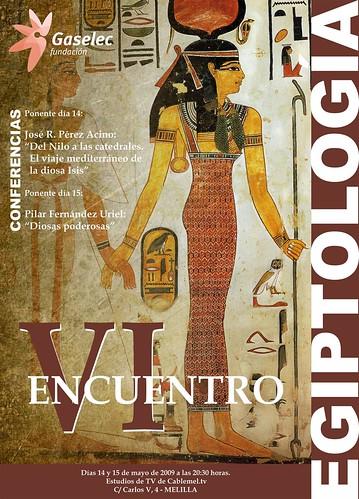 Cartel VI JORNADAS DE EGIPTOLOGIA