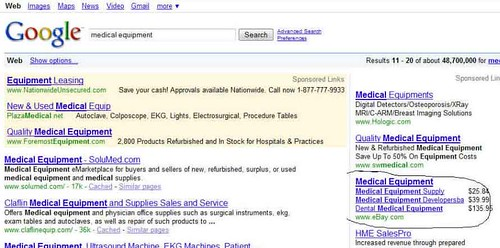 Products in Google AdWords