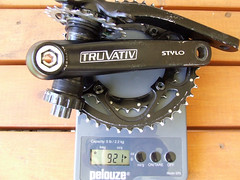 Truvativ Stylo Crankset Weight (aar0on) Tags: scale bike bicycle weight stylo truvativ chainrings crankset