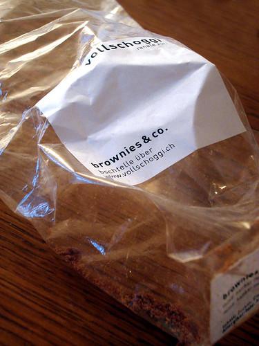 vollschoggi – Brownies leere Verpackung