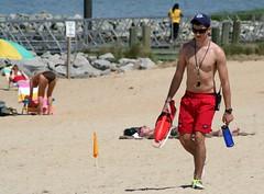 Lifeguard (Tobyotter) Tags: shirtless man male guy virginia lifeguard swimsuit huntingtonbeach newportnews jjamesriver may232009saturday
