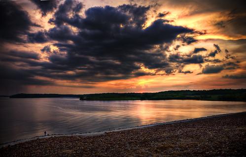 フリー画像| 自然風景| 夕日/夕焼け/夕暮れ| 雲の風景| 湖の風景| アメリカ風景|      フリー素材|