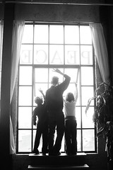 my favorite pic of jack robert and audrey (Ualani) Tags: family window kids loft dad peace loftwindow