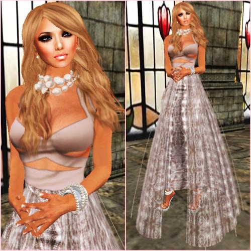 *[ROC]* Delilah Skirt Prim Champagne v1