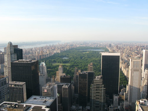 A birds eye view of Central Park in Manhattan - New York