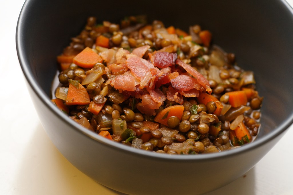 lentils with lovage