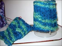 Fraggled Socks, cuffs