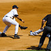 Jeter applies the tag