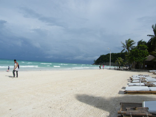 White beach on isle of Boracay