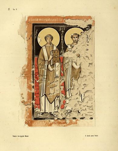 002-Imagenes pintadas de San Cornelio y Cipriano a la derecha de la cripta de S. Cornelio-La Roma sotterranea cristiana - © Universitätsbibliothek Heidelberg