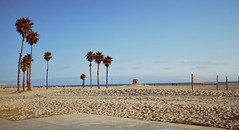I See Palm Treeeees... (jami_lee) Tags: ocean california blue sky beach beautiful clouds sand santamonica footprints palmtrees
