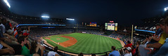 Turner Field Night (Tim.Walker) Tags: atlanta panorama green field grass ga lights major nikon baseball atl diamond professional dirt fans turner braves league bases mlb d60 majorleaguebaseball majorleague