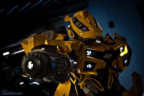 Disfraz de Bumblebee luces