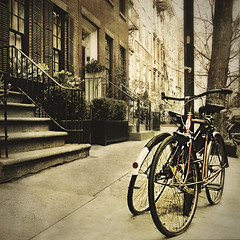 Funny The Way It Is (Shahriar Erfanian) Tags: street nyc urban usa newyork texture bike geotagged westvillage dmb