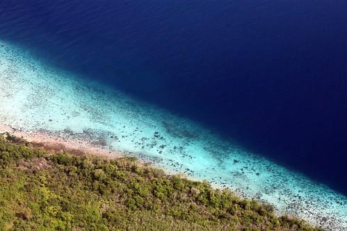 aerial Ngagu beach